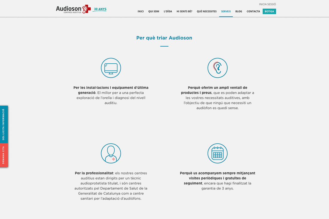 Web Audioson serveis