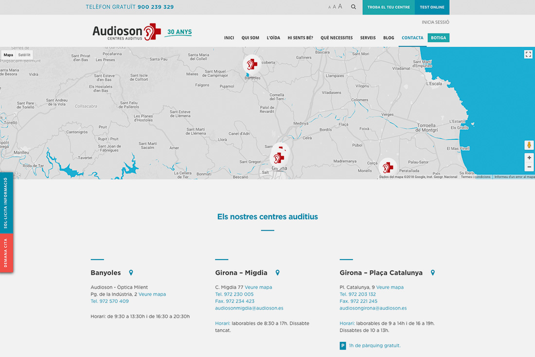 Web Audioson contacte