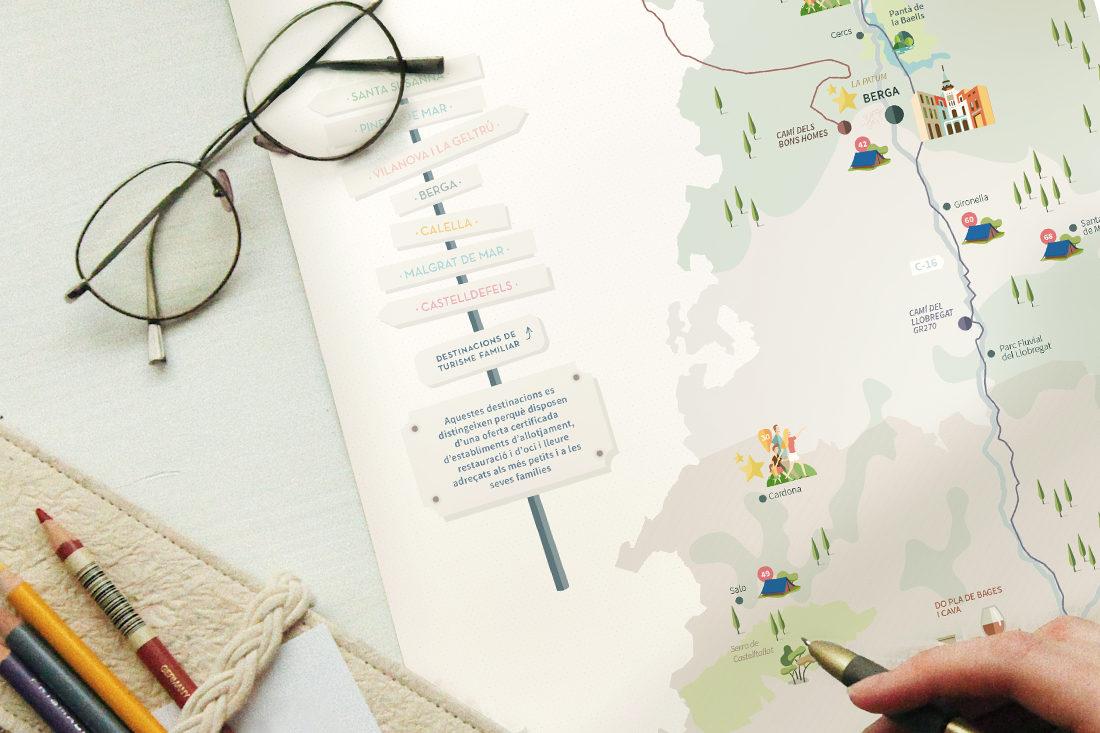 Mapa campings barcelona