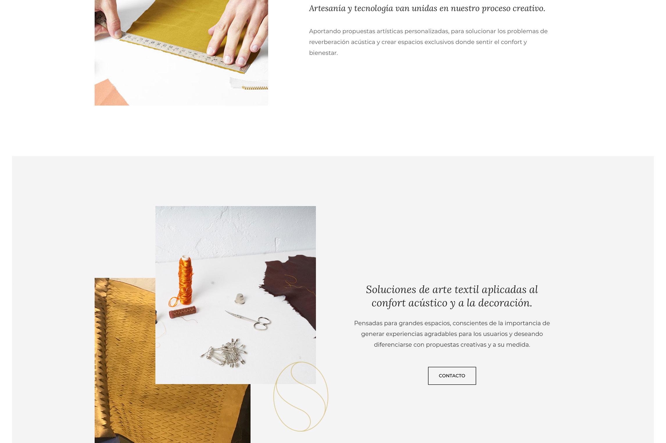 web dissenyadora textil
